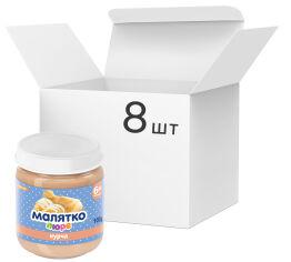 Акция на Упаковка детского пюре Малятко Курица 100 г х 16 шт (4820123511681) от Rozetka