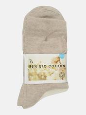 Акция на Набор носков C&A Bio cotton 5399448 39/42 7 пар Коричневый/Белый/Бежевый (PS2030000031757) от Rozetka