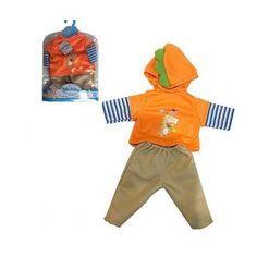 Акция на Кукольная одежда для пупсов высотой до 42см: штанишки, худи с длинным рукавом и капюшоном, вешалка в комплекте от Allo UA
