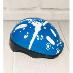Акция на Защитный Детский Шлем для спортивных занятий с отверстиями для вентиляции и ремешком, синий 26х19х12см от Allo UA