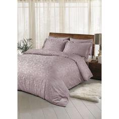 Акция на Набор постельного белья TAC жаккард - Brinley acik lila светло-лиловый евро от Allo UA