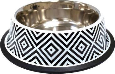 Акция на Миска металлическая для собак и кошек Croci Twiggy Diamond 23 см 940 мл (8023222228191) от Rozetka