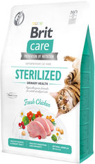 Акция на Сухой корм Brit Care Cat GF Sterilized Urinary Health для стерилизованных котов с курицей 2 кг (8595602540730) от Rozetka