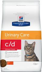 Акция на Сухой корм для кошек Hill's PRESCRIPTION DIET c/d Urinary Stress Feline Chicken с идиопатическим циститом 1.5 кг (052742284200) от Rozetka