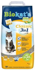 Акция на Наполнитель для кошачьего туалета Gimborn Biokat's Classic 3 in 1 Бентонитовый комкующий 18 л (4002064613789) от Rozetka
