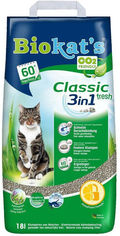 Акция на Наполнитель для кошачьего туалета Gimborn Biokat's Classic Fresh 3 in 1 Бентонитовый комкующий 18 л (4002064613796) от Rozetka