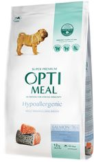 Акция на Сухой полнорационный корм Optimeal гипоаллергенный для взрослых собак средних и больших пород с лососем 12 кг (4820215364423) от Rozetka