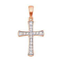 Акция на Крестик из красного золота с бриллиантами 000138078 от Zlato