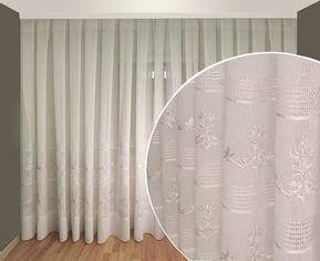 Акция на Тюль Декор-Ин Лен Неаполь Белая с белой вышивкой на льне 600х270 (ROZ6400056373) от Rozetka