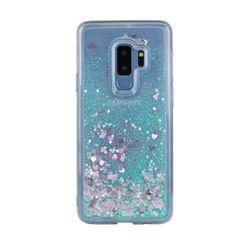 Акция на TPU чехол Liquid hearts для Samsung Galaxy S9+ Бирюзовый от Allo UA