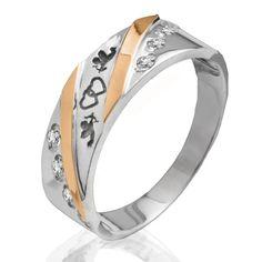 Акция на Серебряное кольцо с золотыми вставками Юрьев 96К 18.5 от Allo UA