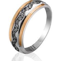 Акция на Серебряное кольцо со вставками золота Юрьев 129к 18 от Allo UA
