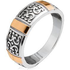 Акция на Серебряное кольцо со вставками золота Юрьев 169К 19 от Allo UA