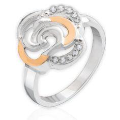 Акция на Кольцо из серебра с золотом Юрьев 85к 17.5 от Allo UA
