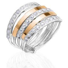 Акция на Женское кольцо с камнями Юрьев 36К 17.5 от Allo UA