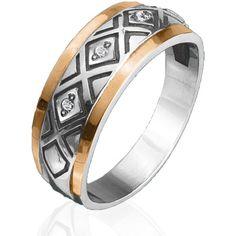 Акция на Кольцо из серебра и золота Юрьев 72К 19 от Allo UA
