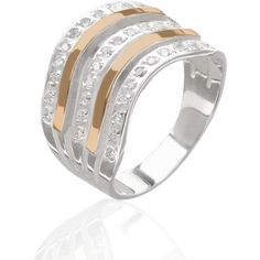 Акция на Серебряное кольцо с золотом Юрьев 116к 17 от Allo UA