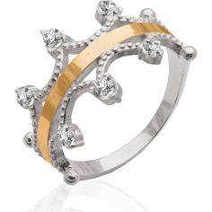 Акция на Женское кольцо из серебра и золота Юрьев 65К 18 от Allo UA