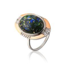 Акция на Серебряное кольцо с опалом Юрьев 297к 20 от Allo UA