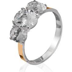 Акция на Женское кольцо Юрьев с овальными камнями 157К 18.5 от Allo UA