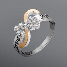 Акция на Серебряное кольцо со вставкой золота Юрьев 168к 18.5 от Allo UA