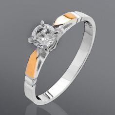 Акция на Серебряное кольцо с золотом Юрьев 110К 16.5 от Allo UA