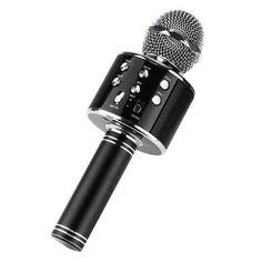 Акция на Беспроводной микрофон караоке с изменением голоса UTM WS858 с чехлом Black (1740-DM) от Allo UA