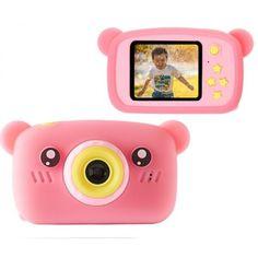 Акция на Детская Фото видео камера Smart Kids Funny Bear Plus Противоударный Фотоаппарат Full HD 1920x1080P Pink (7108765-DPZ) от Allo UA