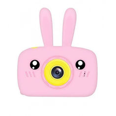 Акция на Детская Фото видео камера Smart Kids Rabbit Pro Противоударный Фотоаппарат Full HD 1920x1080P Pink  (71465-DPZ) от Allo UA