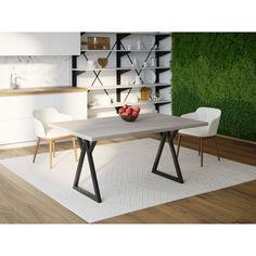 Акция на Обеденный стол HYGGE HG162 Верлесе 150 х 80 х 75 см ДСП Дуб Серый (HG16215875ClOPar) от Allo UA