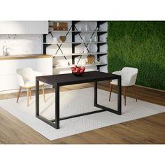 Акция на Обеденный стол Skandi Wood SW104 Довер 180 х 80 х 75 см МДФ+Шпон Дуб Венге (SW10418875weOMDF) от Allo UA