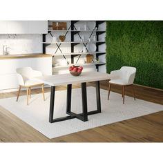 Акция на Обеденный стол Skandi Wood SW058 Пирр 200 х 80 х 75 см МДФ+Шпон Дуб Белый (SW05820875WhOMDF) от Allo UA