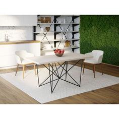 Акция на Обеденный стол Skandi Wood SW078 Сейлем 200 х 80 х 75 см МДФ+Шпон Дуб Белый (SW07820875WhOMDF) от Allo UA