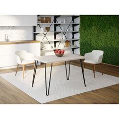 Акция на Обеденный стол Skandi Wood SW090 Санта-Фе 140 х 80 х 75 см МДФ+Шпон Дуб Белый (SW09014875WhOMDF) от Allo UA