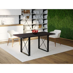 Акция на Обеденный стол Skandi Wood SW096 Спрингфилд 120 х 80 х 75 см МДФ+Шпон Дуб Венге (SW09612875weOMDF) от Allo UA