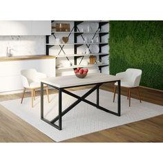 Акция на Обеденный стол Skandi Wood SW082 Оклахома-сити 140 х 80 х 75 см МДФ+Шпон Дуб Белый (SW08214875WhOMDF) от Allo UA