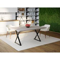 Акция на Обеденный стол Skandi Wood SW093 Нэшвилл 140 х 80 х 75 см МДФ+Шпон Дуб Серый (SW09314875GrOMDF) от Allo UA