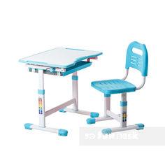 Акция на Комплект парта и стул-трансформеры FunDesk Sole Blue от Allo UA