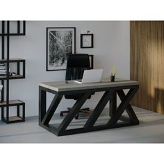 Акция на Компьютерный стол Skandi Wood SW105 Виргиния 180 х 80 х 75 см Массив Ясень Темно-Cерый (SW105188075DaarrAsh) от Allo UA