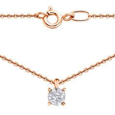 Акция на Золотое колье в комбинированном цвете с бриллиантами 000137872 45 размера от Zlato