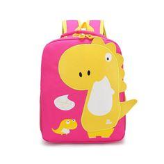 Акция на Детский рюкзак Lesko 201026 Tyrannosaur Pink объем 20L от Allo UA