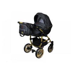 Акция на Детская универсальная коляска 2 в 1 LaBona Novita Perla, черная (NP-20) от Allo UA