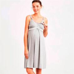 Акция на Ночная сорочка для беременных и кормящих Catherine's 866 серая XXL от Podushka