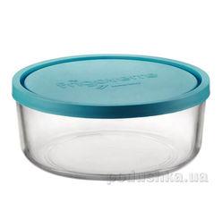 Акция на Емкость для продуктов Bormioli 1,25 л голубая от Podushka