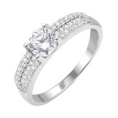 Акция на Серебряное кольцо с фианитами 000112715 17.5 размера от Zlato