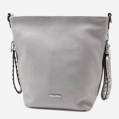 Акция на Женская сумка Velina Fabbiano 7772476 Серая (1000007772476) от Rozetka