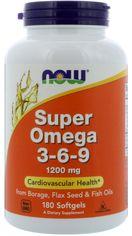 Акция на Жирные кислоты Now Foods Супер Омега 3-6-9 1200 мг 180 желатиновых капсул (733739018410) от Rozetka