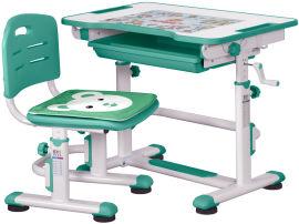 Акция на Комплект Evo-kids BD-08 Z стол + стул Белый/зеленый от Rozetka