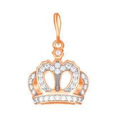 Акция на Серебряный кулон-корона с фианитами и позолотой 000034074 от Zlato