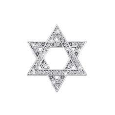 Акция на Кулон-Зведа Давида из белого золота с бриллиантами и родированием 000131568 от Zlato